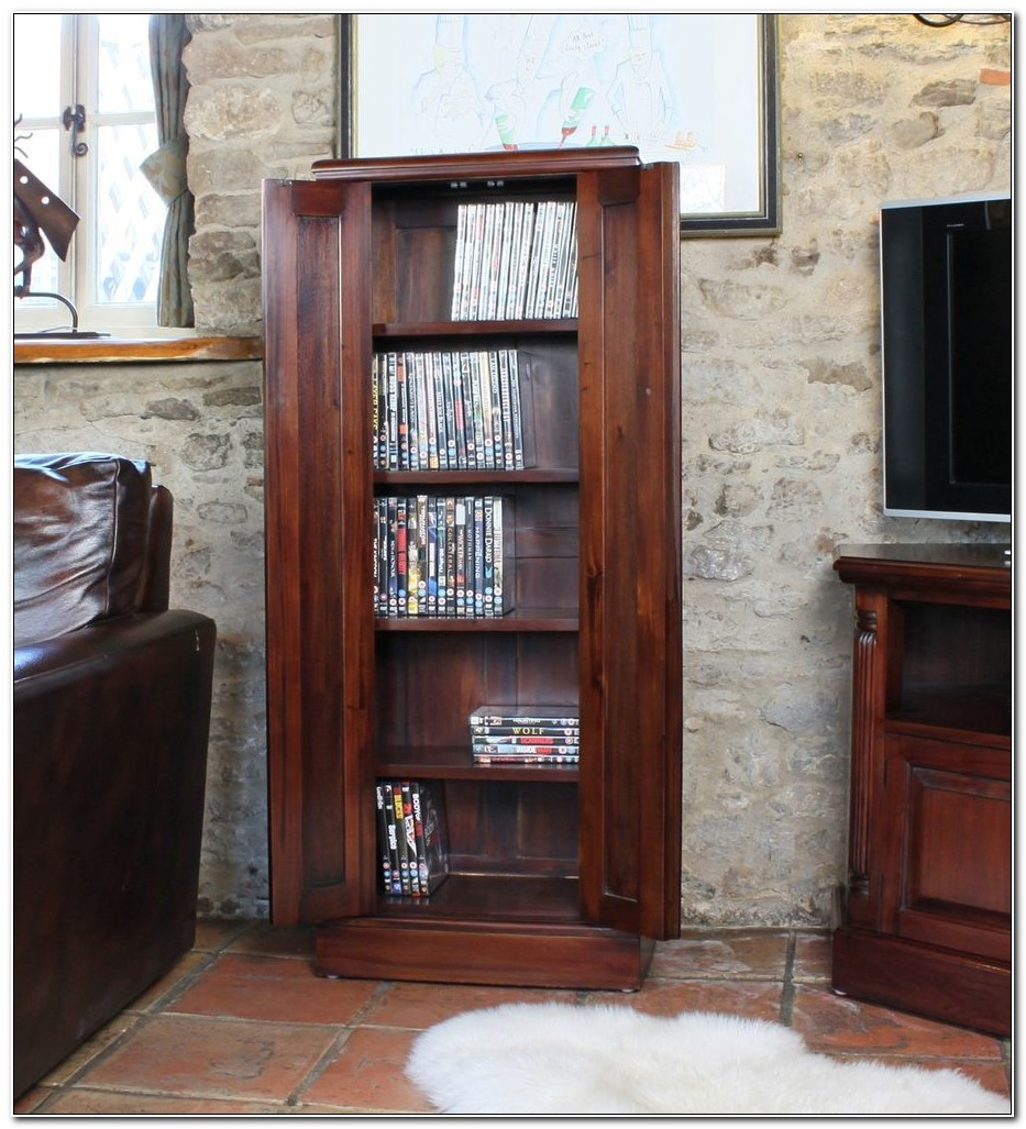 Solid Mahogany Dvd Storage Cabinet