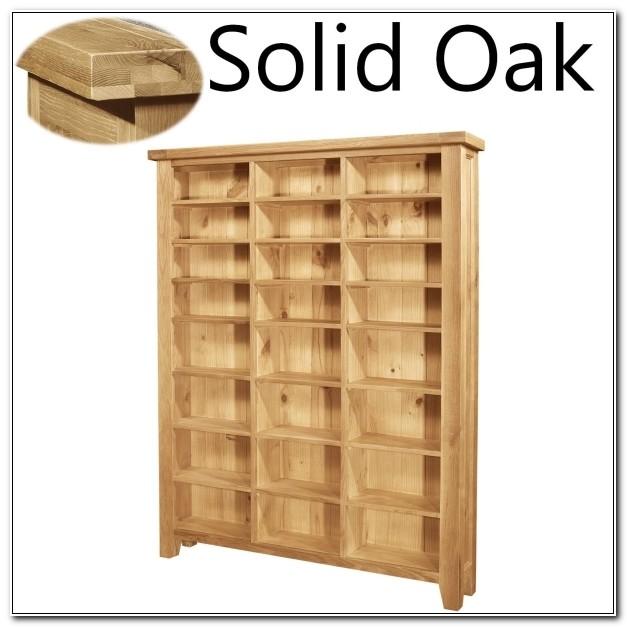 Solid Oak Cd Cabinet