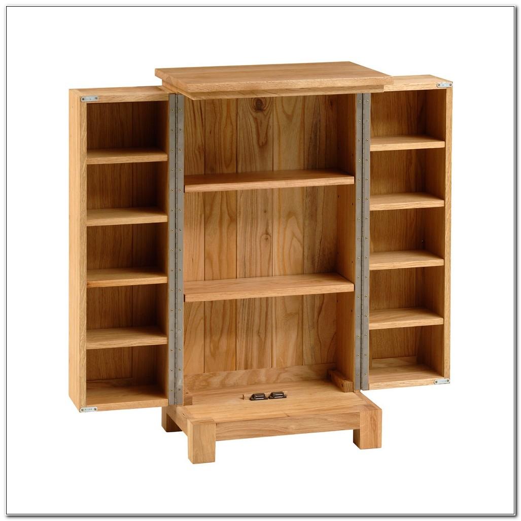 Solid Oak Cddvd Cabinet