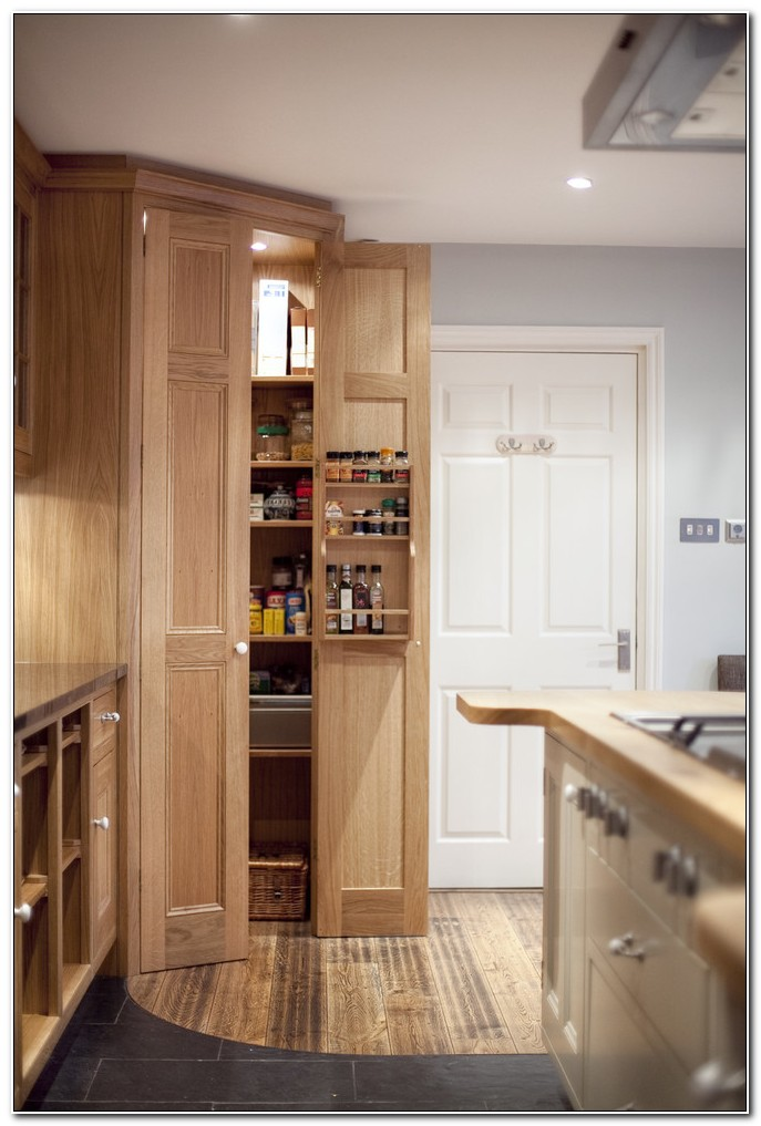 Solid Oak Kitchen Pantry Cabinet