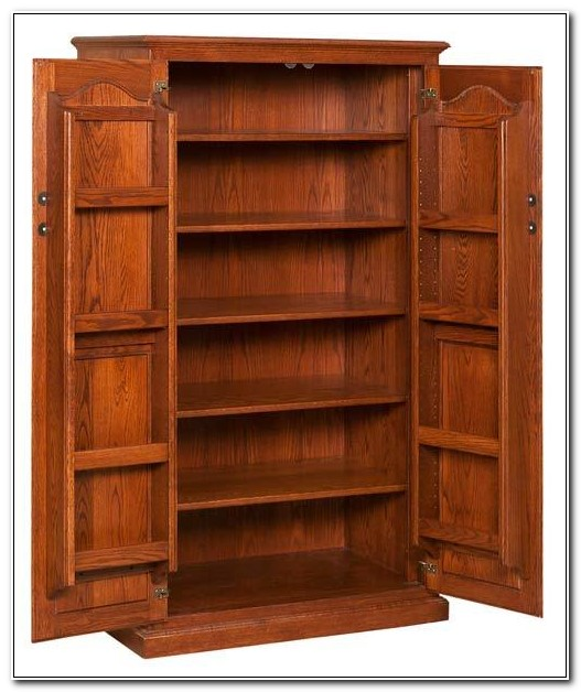 Solid Oak Pantry Cabinet
