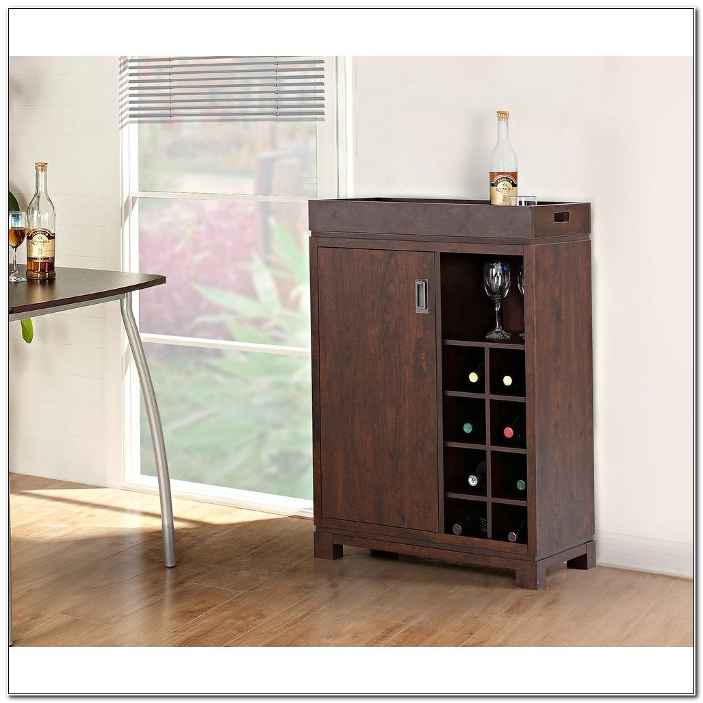 Solid Poplar Wood Bar Cabinet