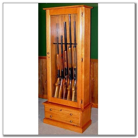 Solid Wood 6 Gun Cabinet