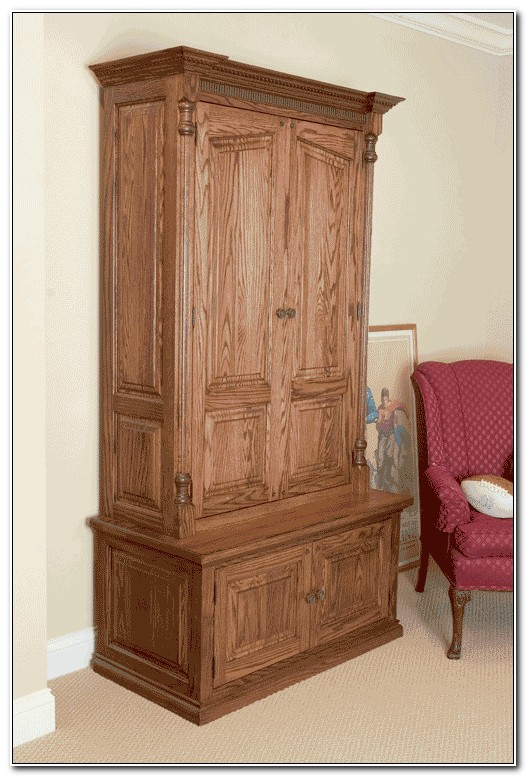Solid Wood Door Gun Cabinet