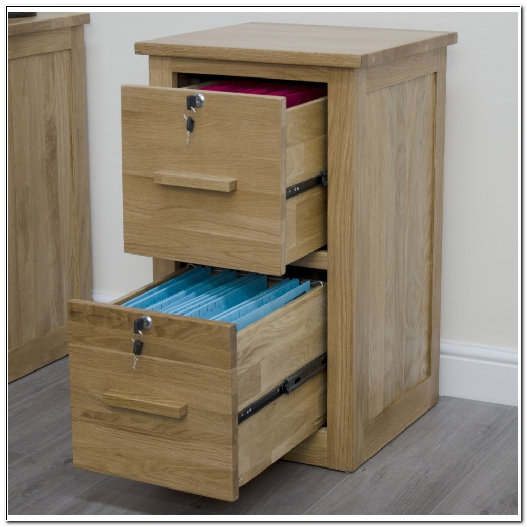 Solid Wood File Cabinet With Lock