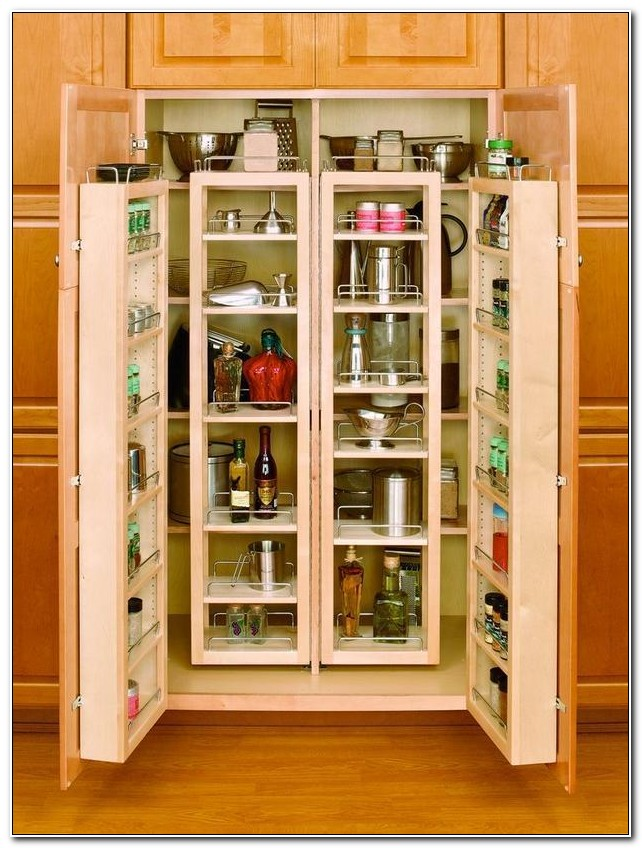 Solid Wood Kitchen Pantry Cabinet