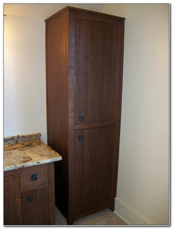 Solid Wood Linen Cabinet Bathroom