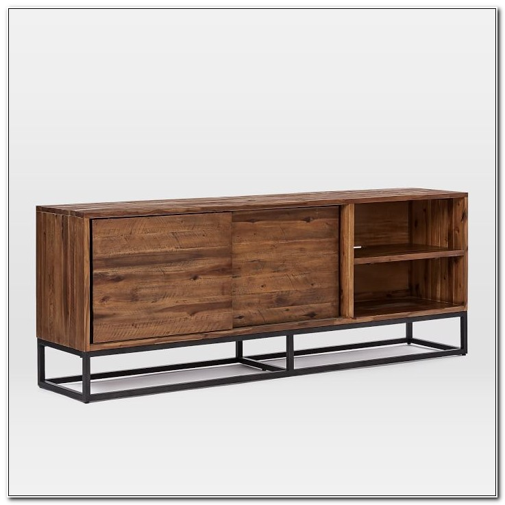 Solid Wood Media Cabinet