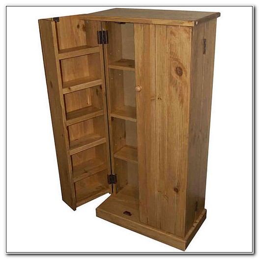Solid Wood Pantry Cabinet