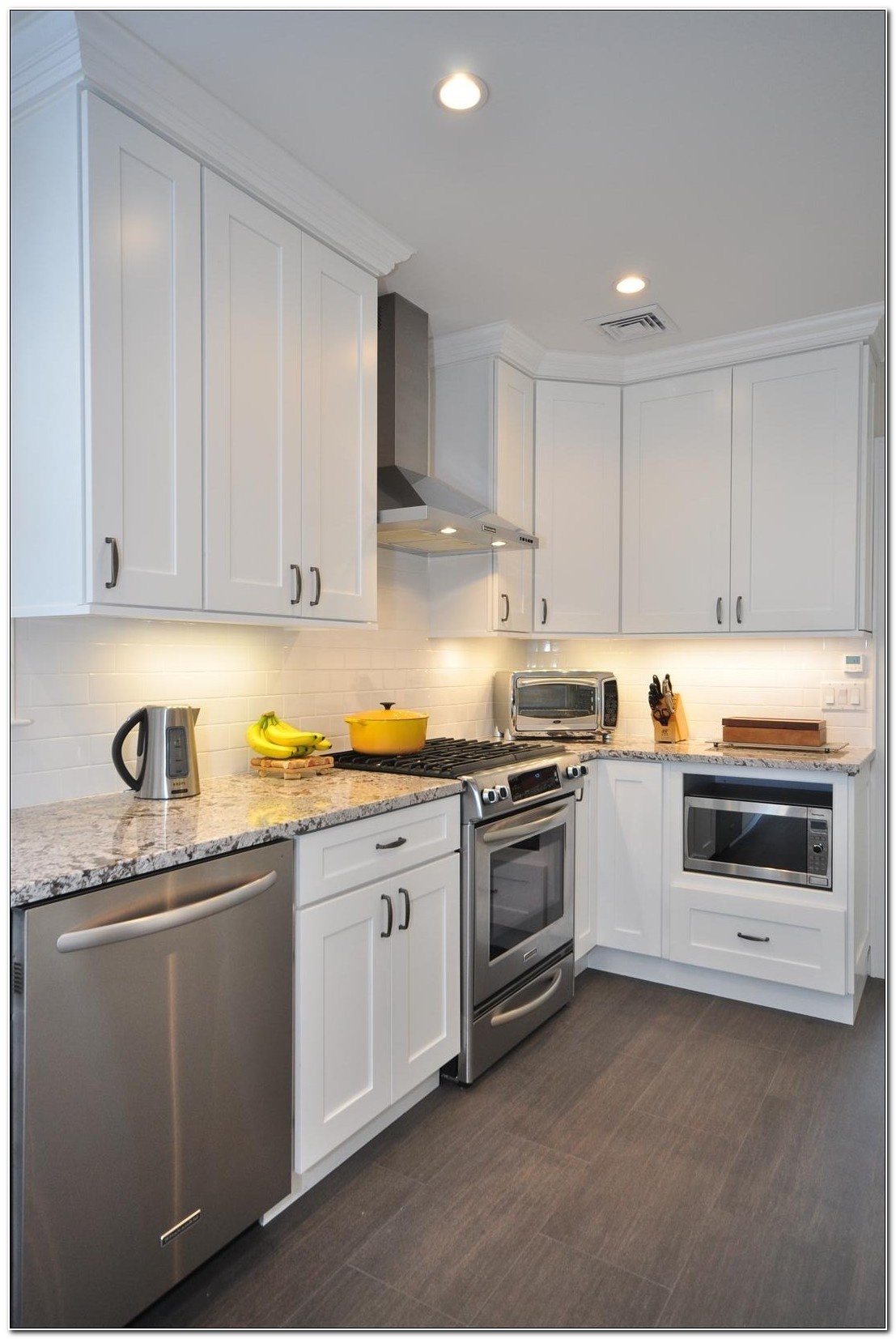 Solid Wood White Shaker Kitchen Cabinets
