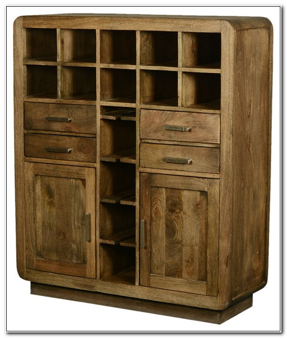 Solid Wood Wine Rack Cabinet