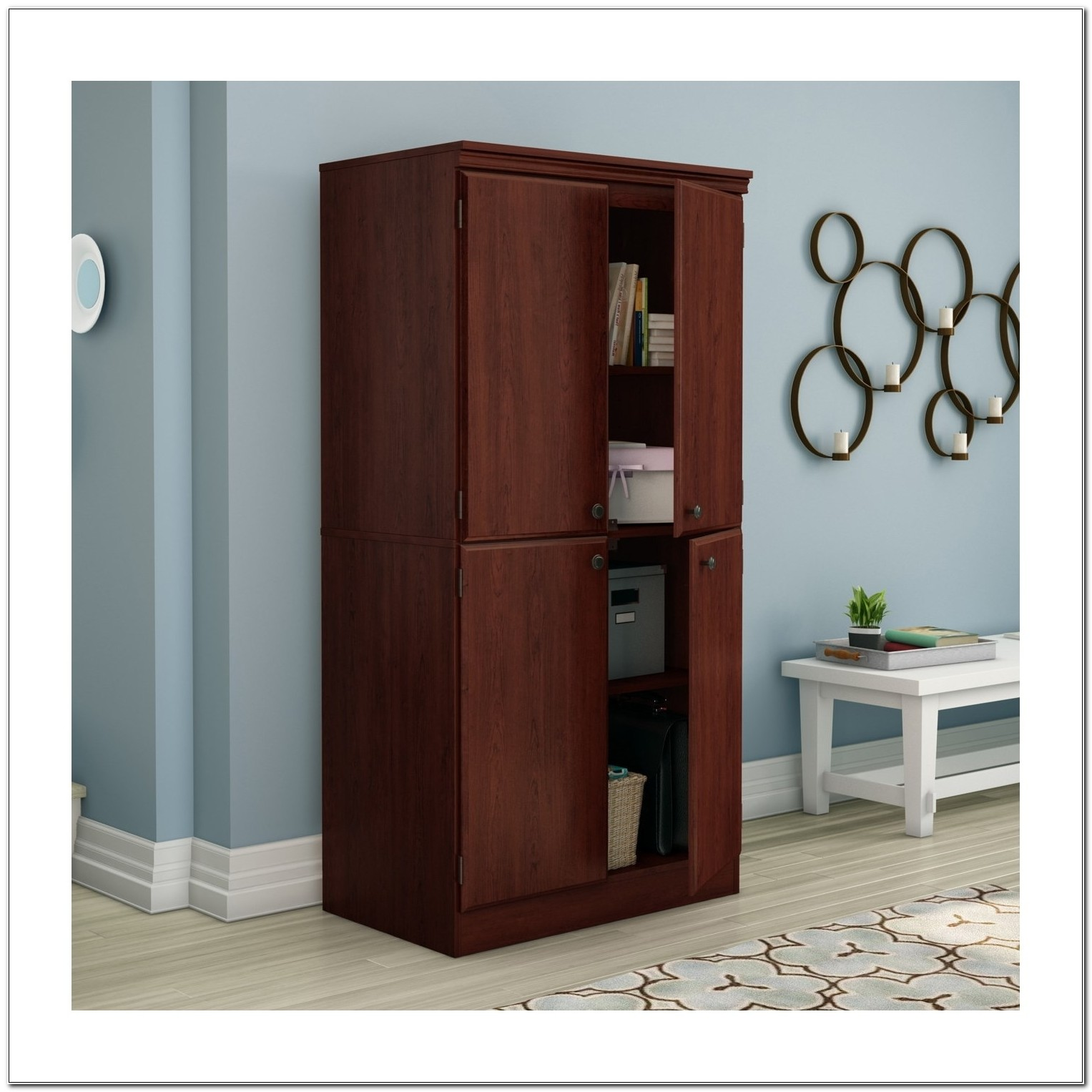 South Shore Morgan Storage Cabinet Black