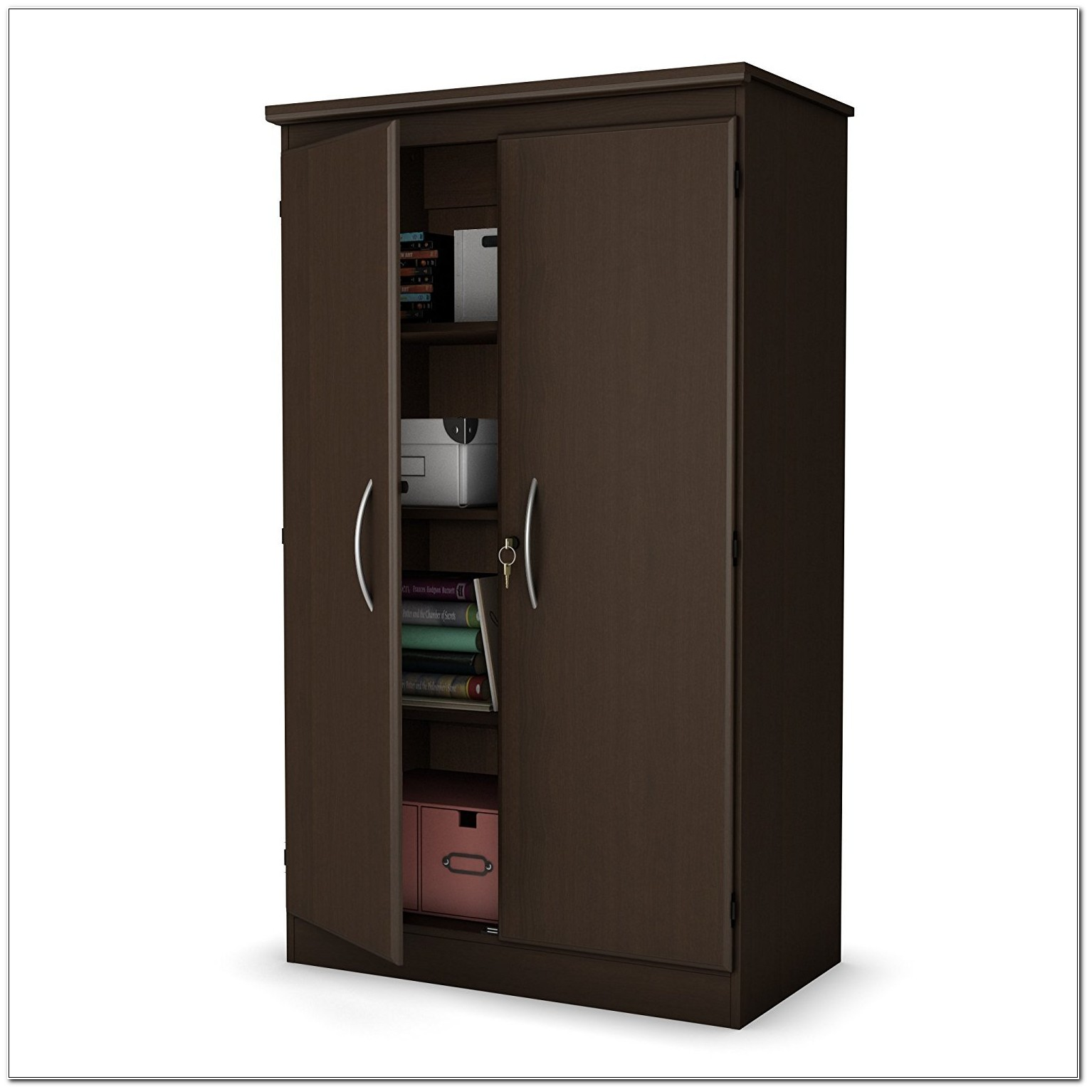 South Shore Morgan Storage Cabinet Chocolate