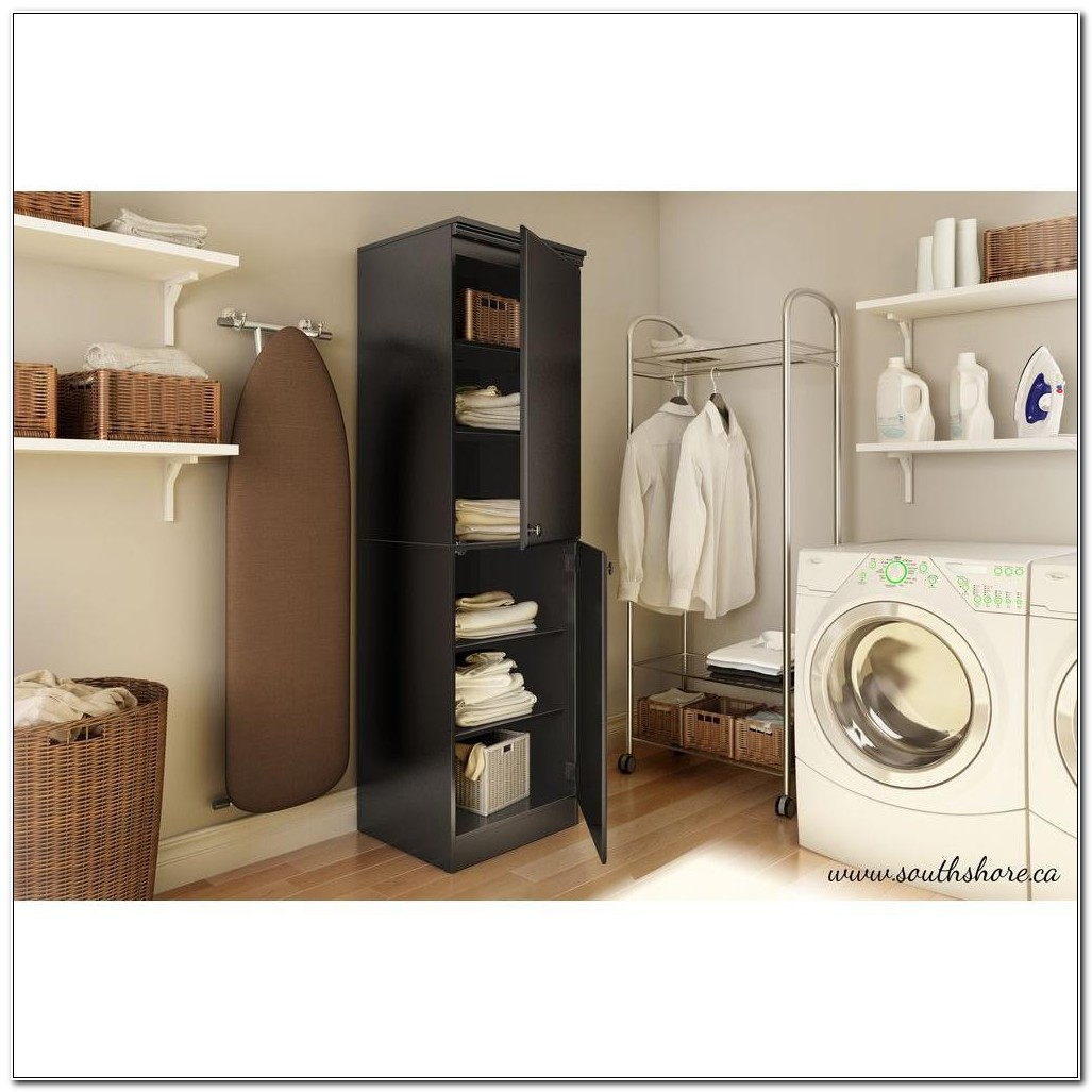 South Shore Morgan Storage Cabinet Pure Black