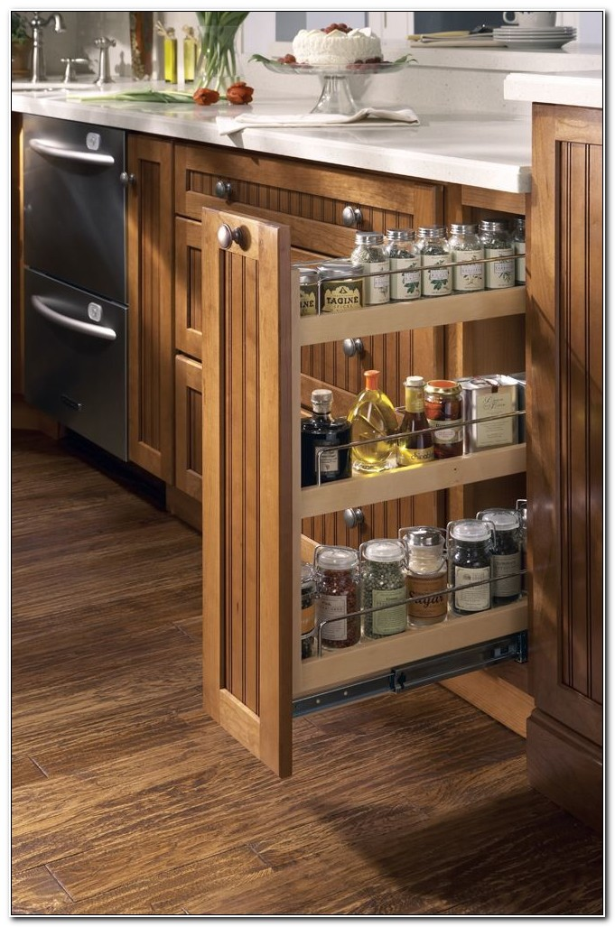 Spice Rack Pull Out Cabinet