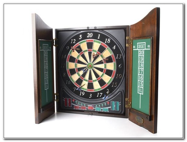 Sportcraft Electronic Dartboard With Cabinet