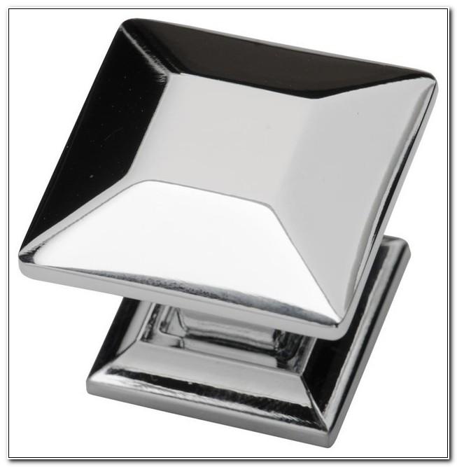 Square Polished Chrome Cabinet Handles