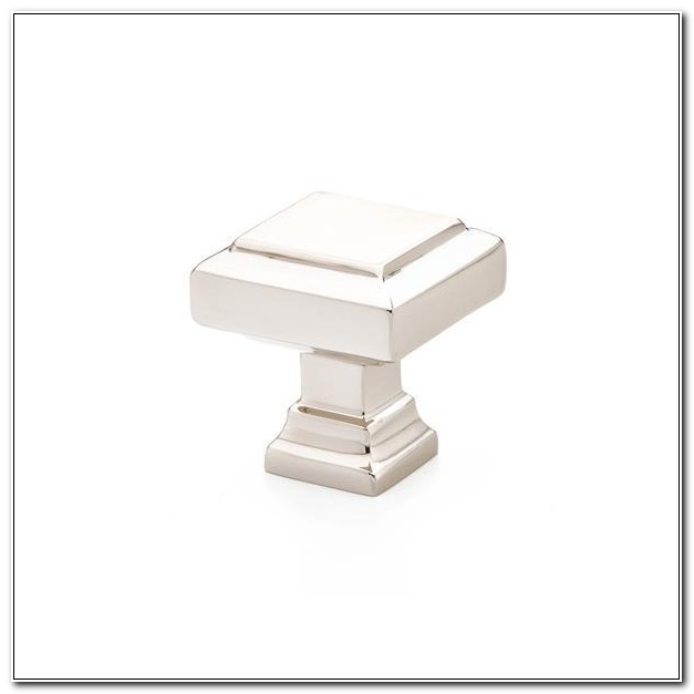 Square Polished Nickel Cabinet Knobs