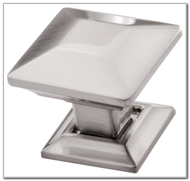 Square Satin Nickel Cabinet Knobs