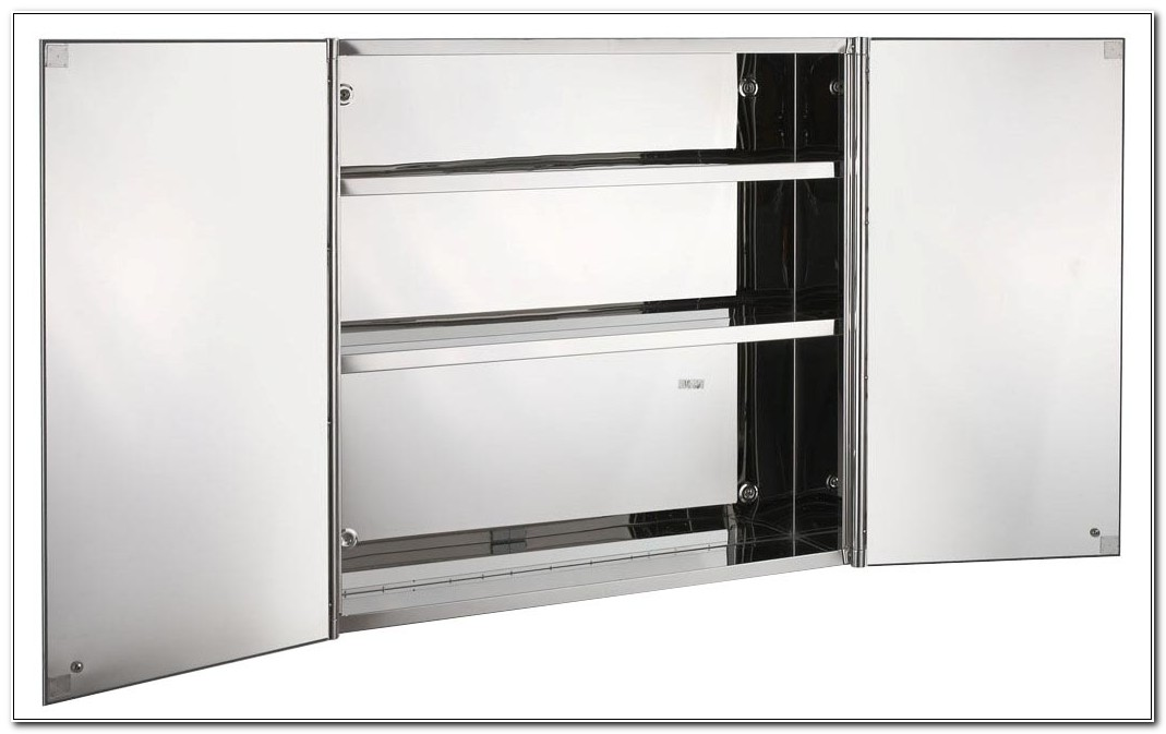 Stainless Steel Bathroom Cabinet With Mirror