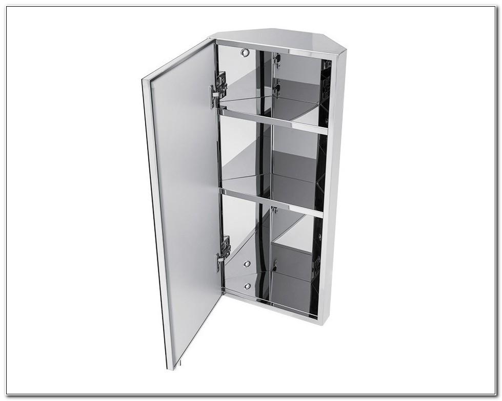 Stainless Steel Corner Bathroom Cabinet