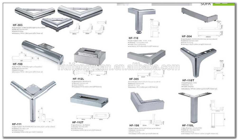 Stainless Steel Legs For Sofa