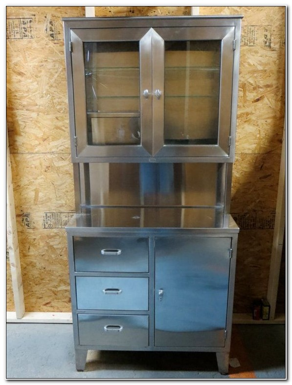 Stainless Steel Medical Cabinets Vintage