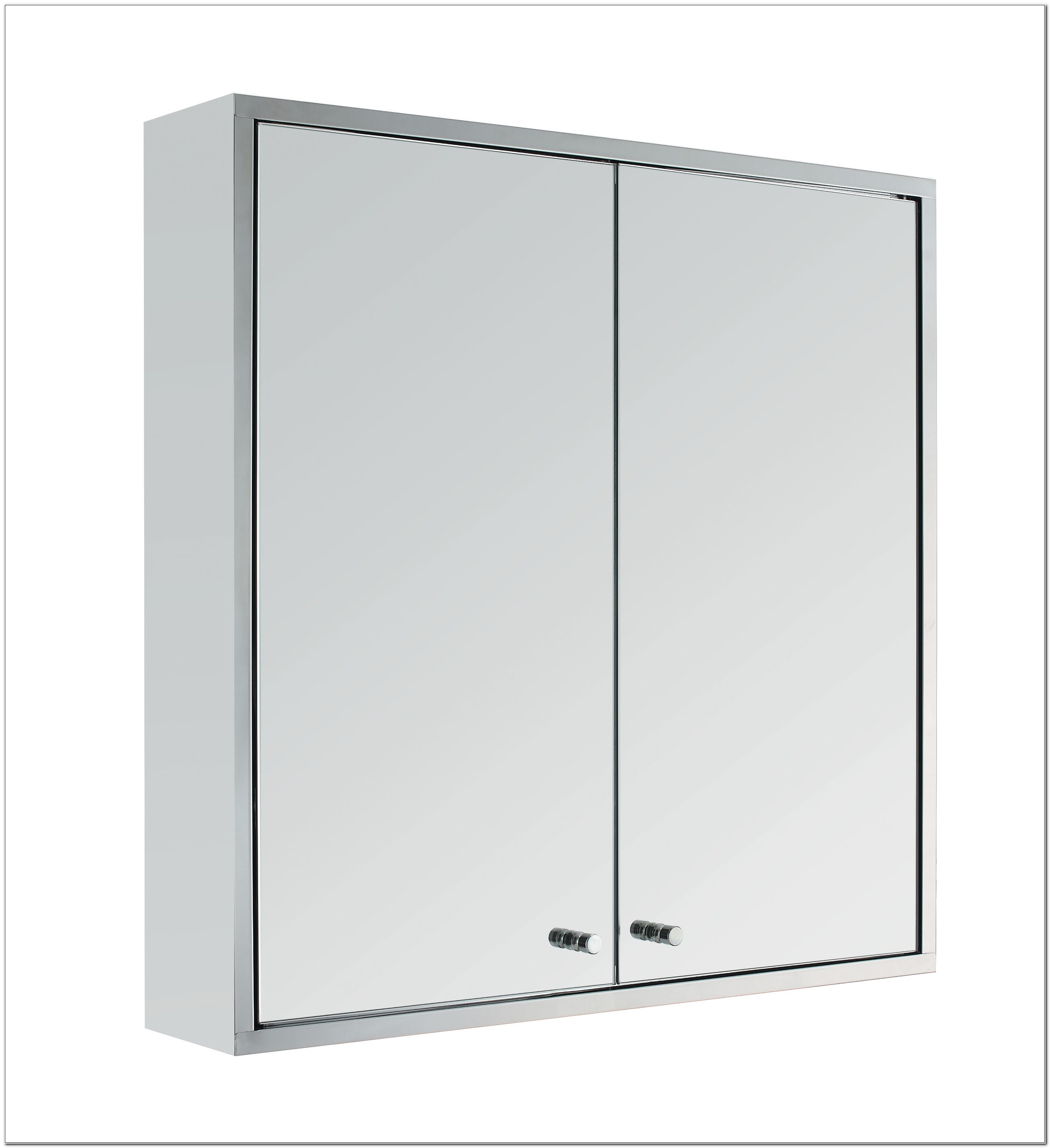 Stainless Steel Mirrored Bathroom Wall Cabinets