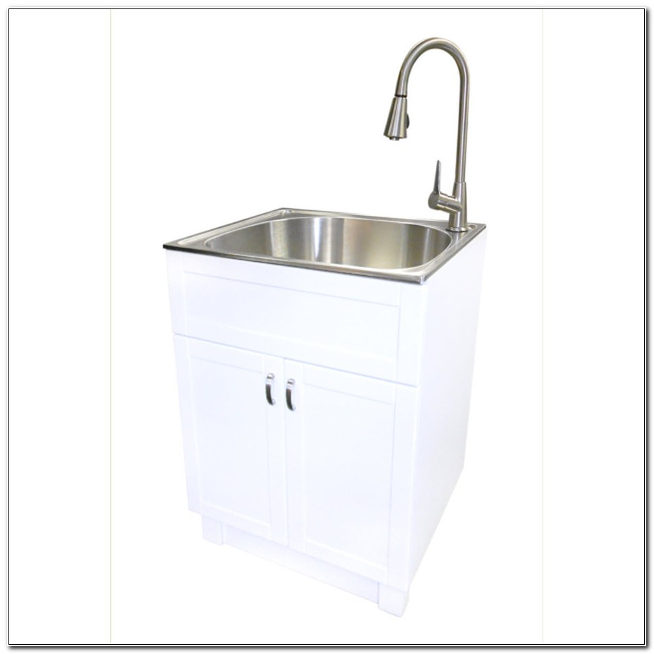 Stainless Steel Utility Tub With Cabinet
