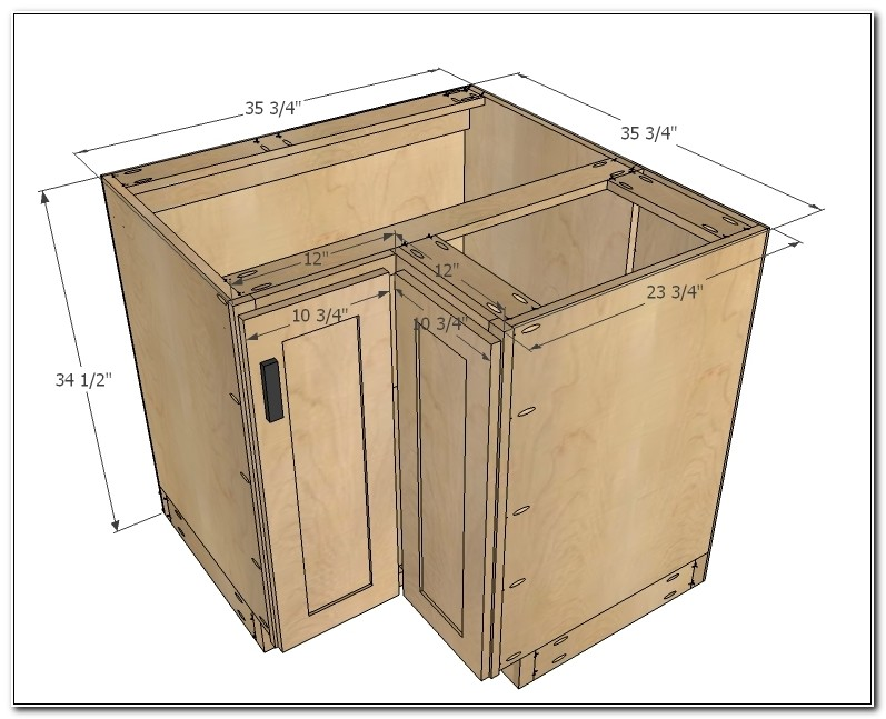Standard Kitchen Corner Base Cabinet Sizes