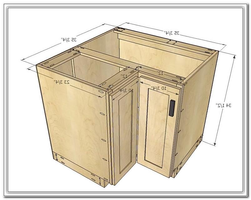 Standard Kitchen Corner Cabinet Dimensions
