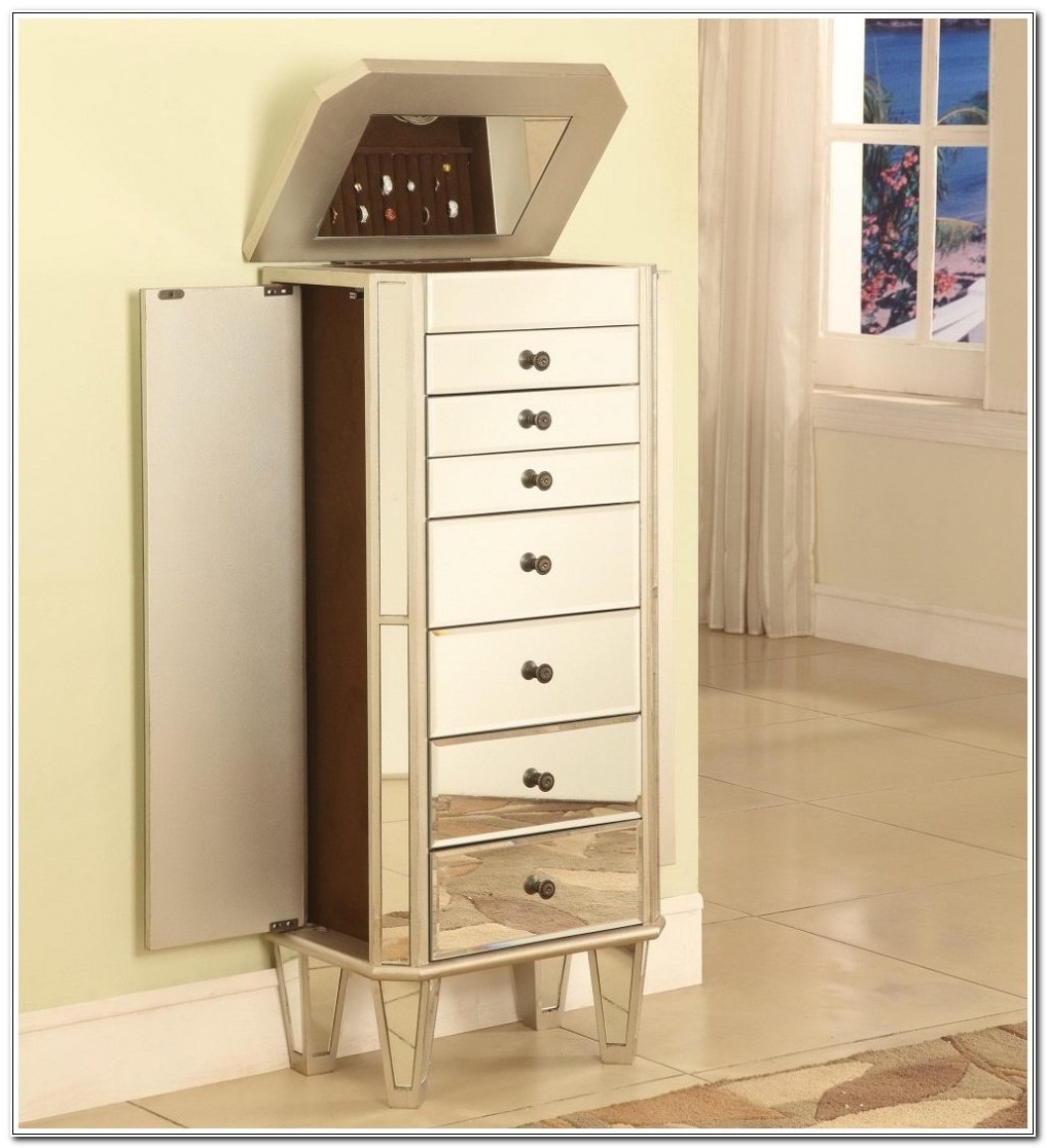 Standing Mirror Jewelry Armoire Qvc