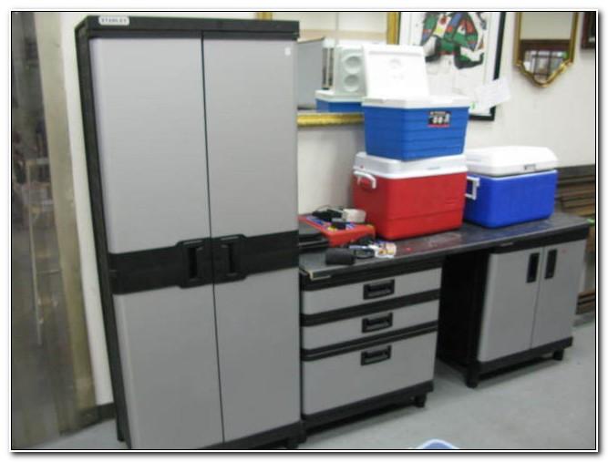 Stanley Plastic Garage Storage Cabinets