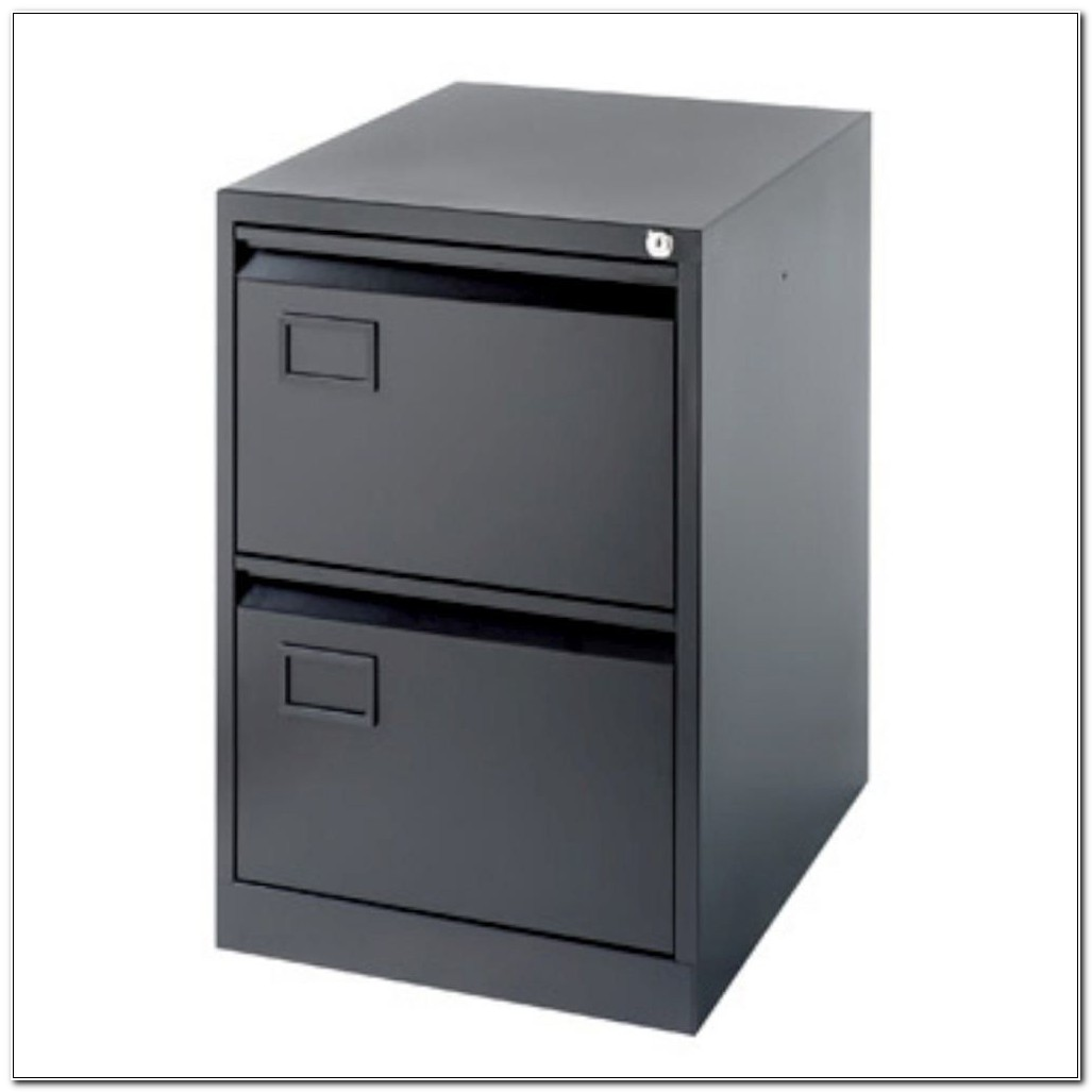 Staples 2 Drawer Foolscap Filing Cabinet