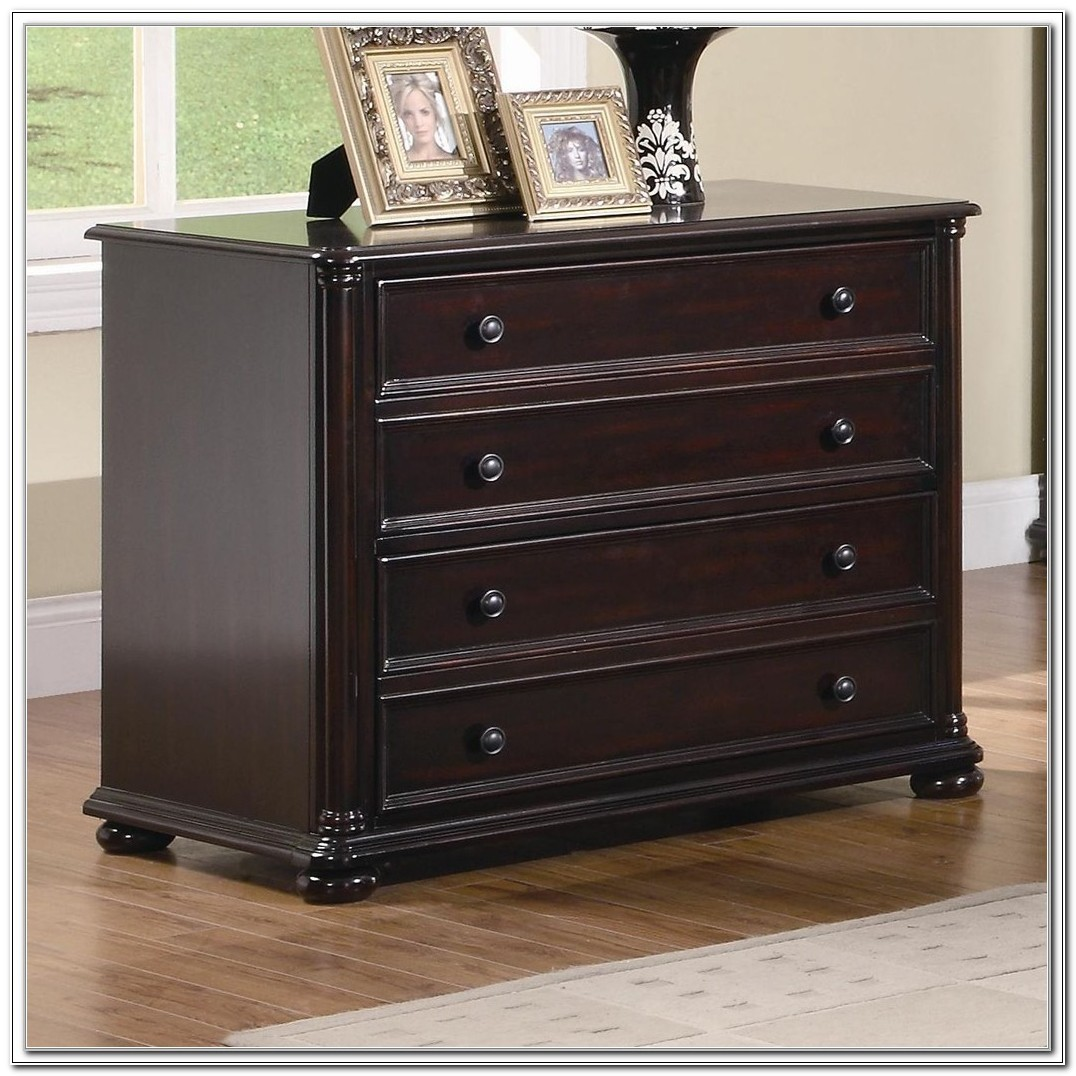 Staples Wood Veneer Lateral File Cabinet