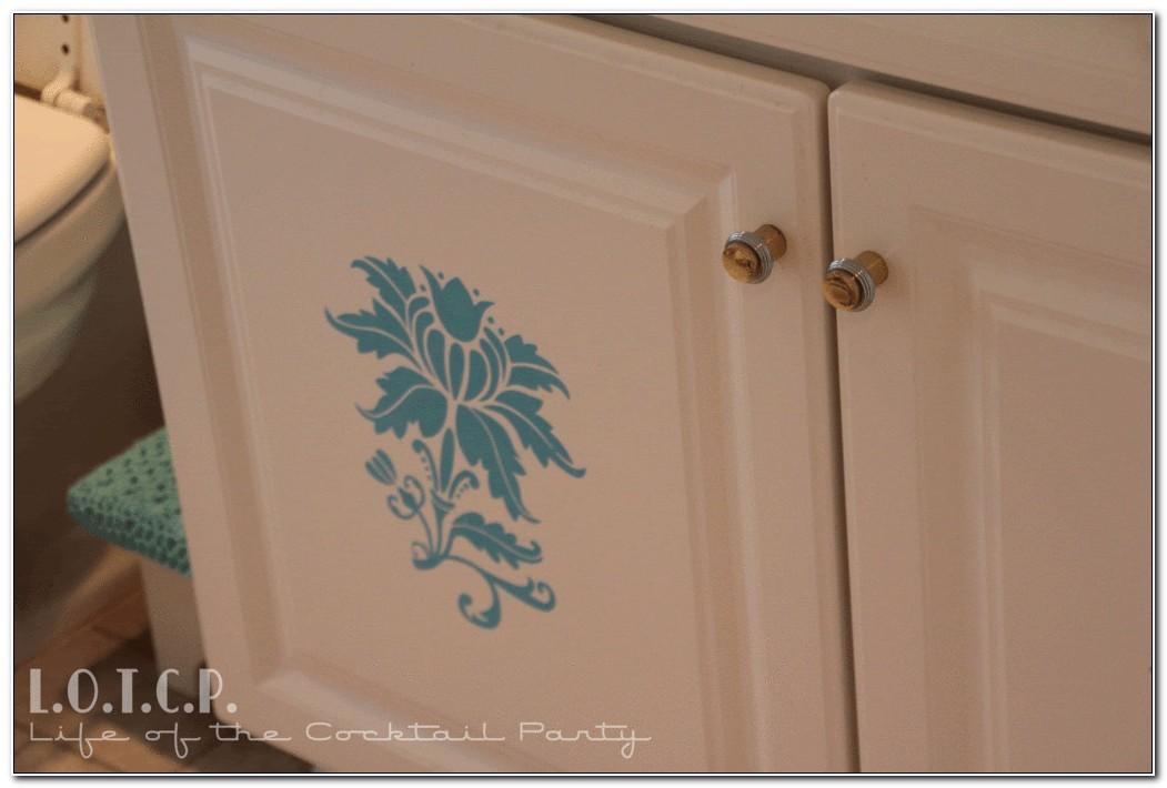 Stencils For Bathroom Cabinet Doors