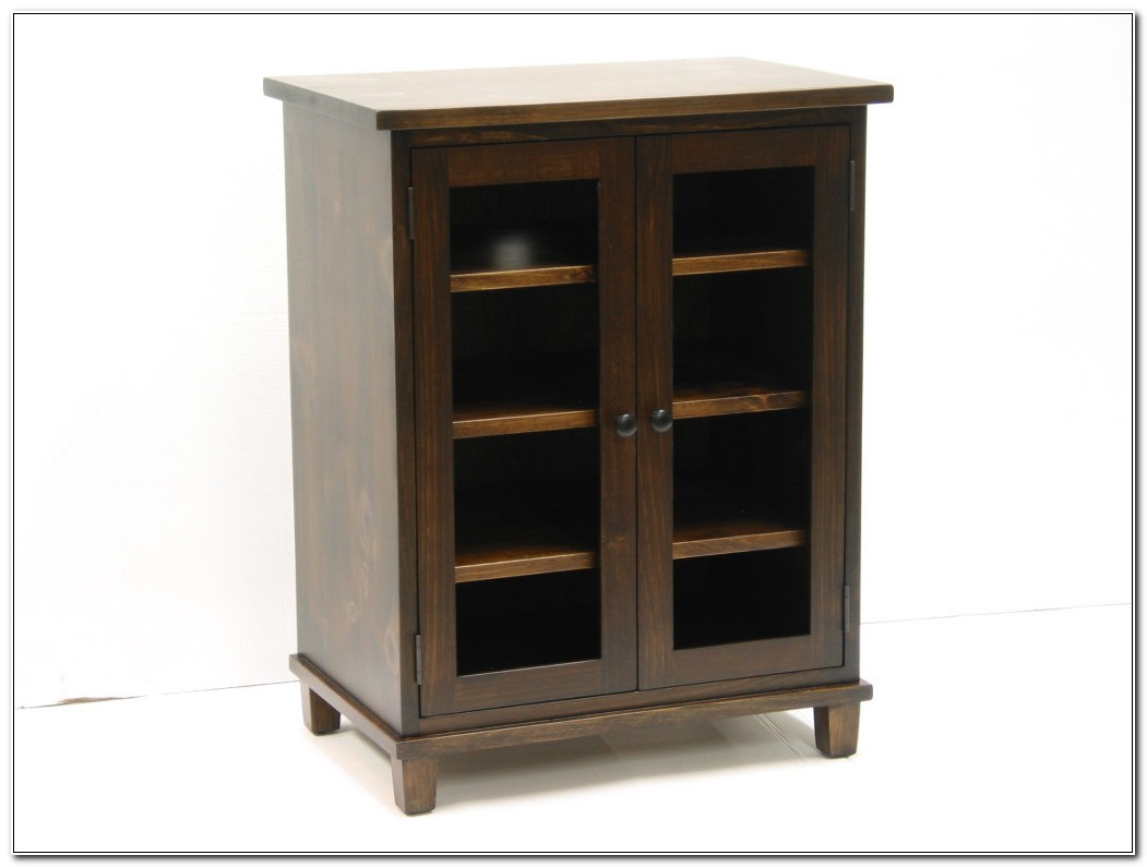 Stereo Cabinet With Glass Doors