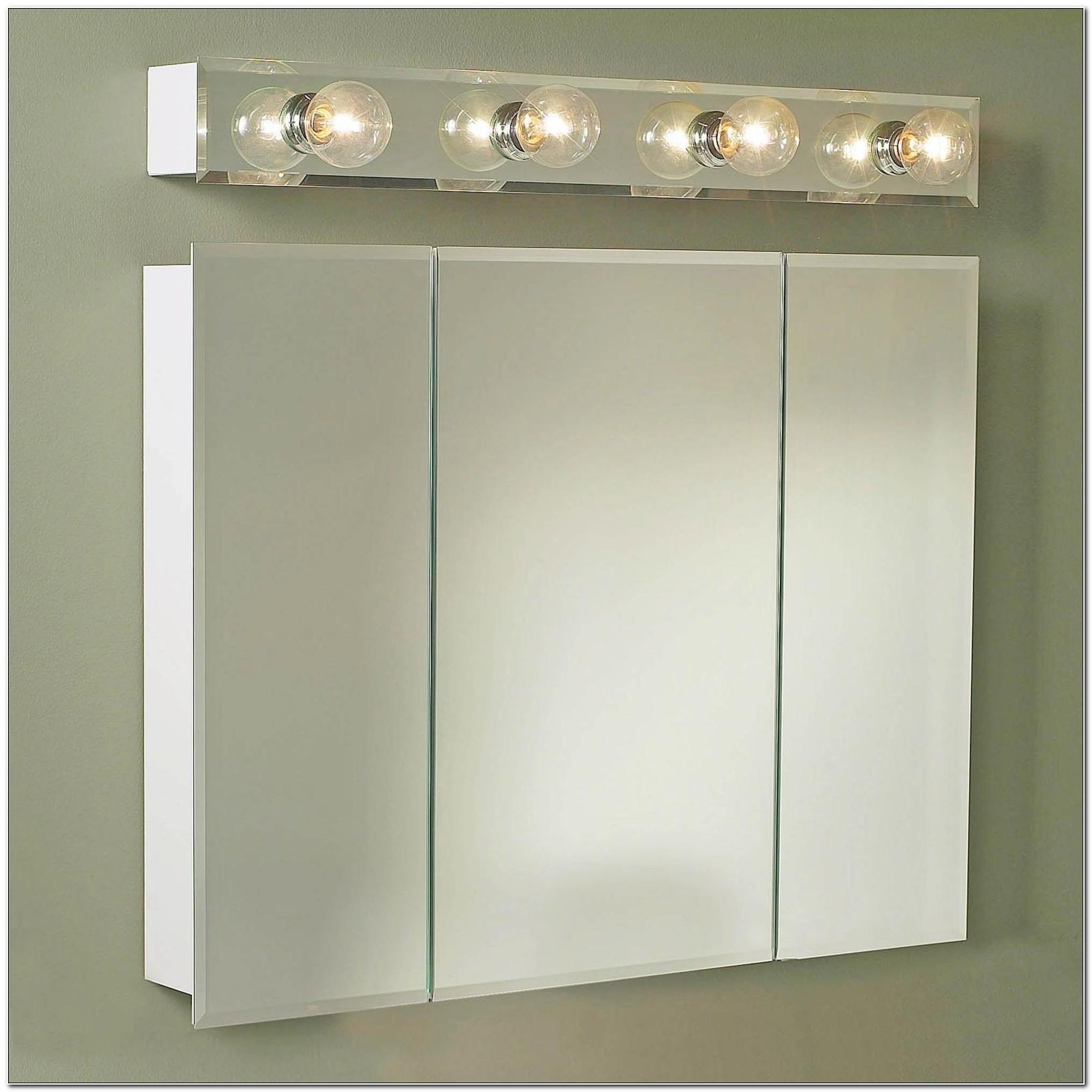 Surface Mount Medicine Cabinet With Side Lights