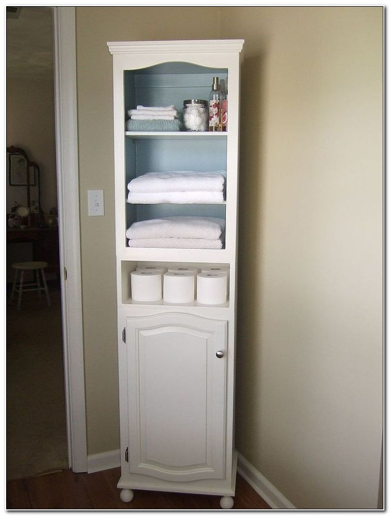 Tall Bathroom Linen Cabinets