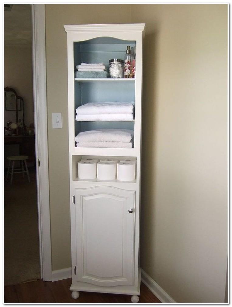Tall Bathroom Linen Closet