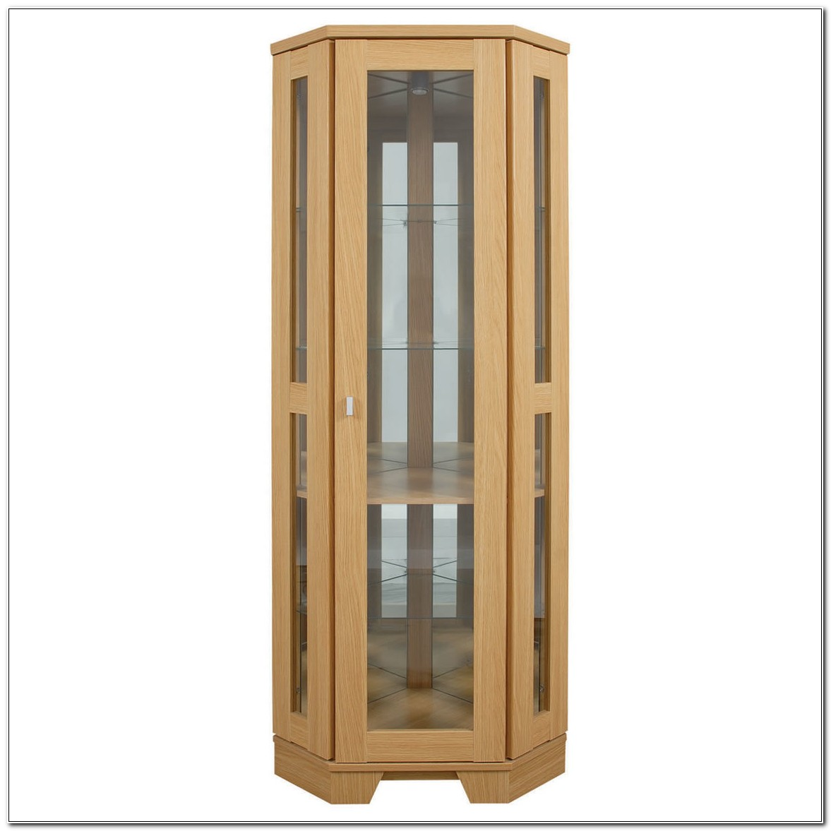 Tall Corner Cabinet With Glass Doors