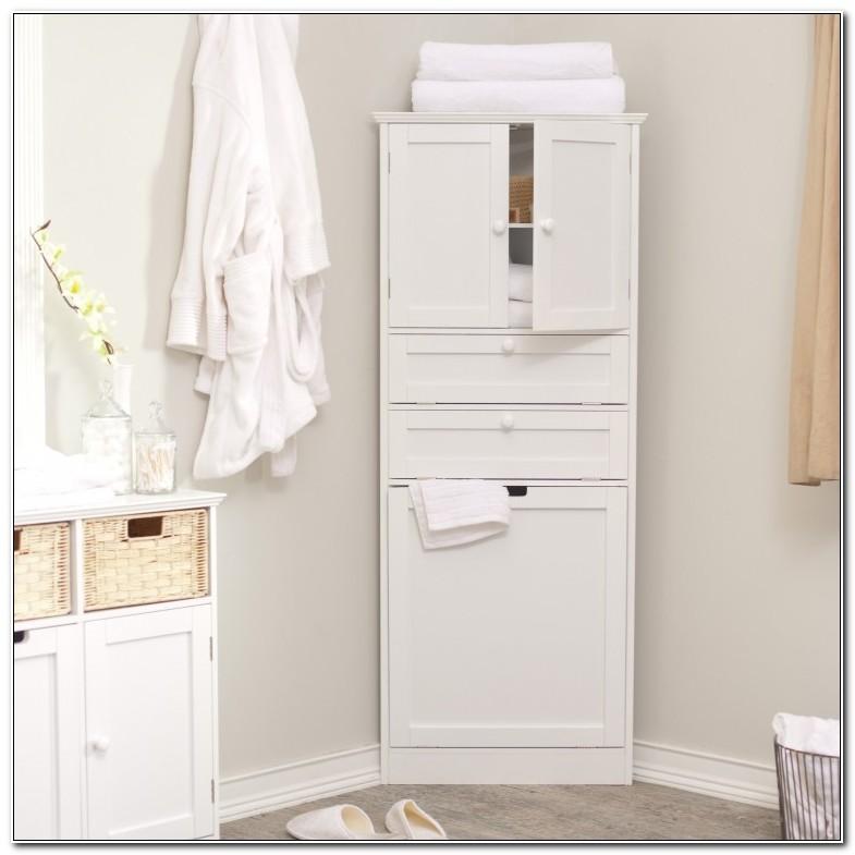 Tall Corner Linen Closet