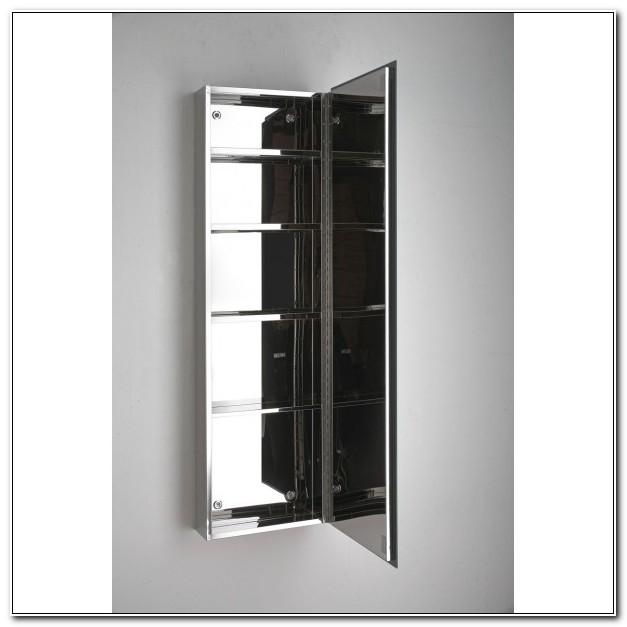 Tall Mirrored Bathroom Wall Cabinet