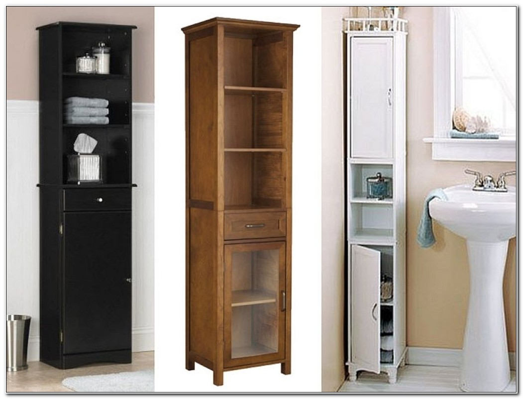Tall Slim Bathroom Storage Cabinet Tallboy