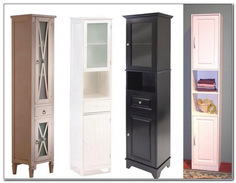 Tall Slim Living Room Cabinet