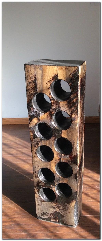 Tall Solid Wood Wine Rack