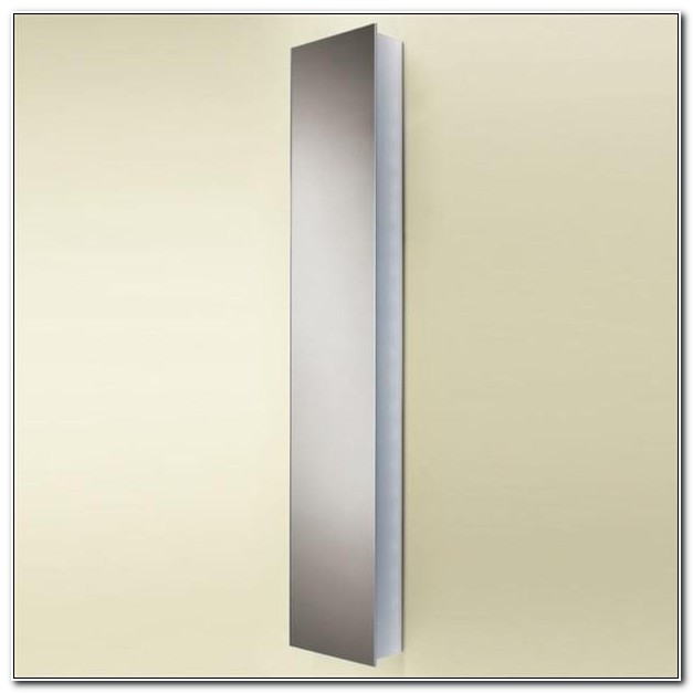 Tall White Bathroom Cabinet With Mirror