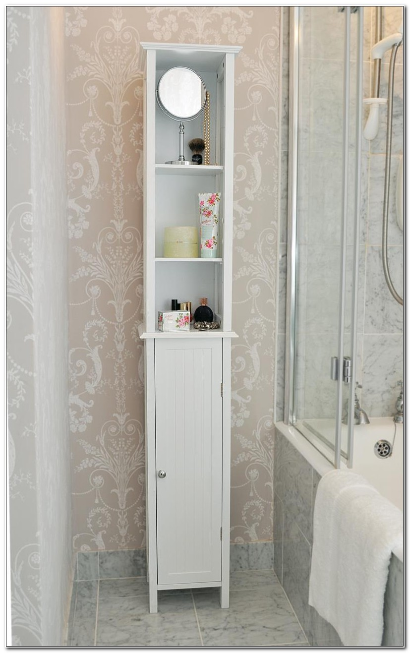 Tall White Bathroom Cabinets