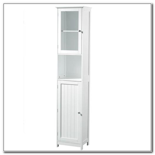 Tall White Bathroom Floor Cabinet