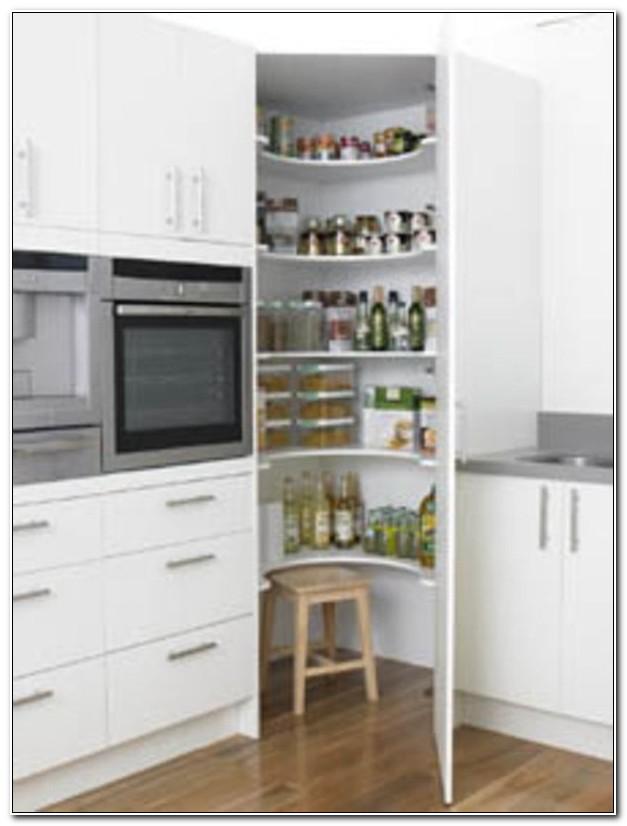 Tall White Corner Kitchen Cabinet